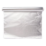 Крен бумаги алюминиевой фольги над изолированной белой предпосылкой Стоковая Фотография