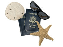 旅行的护照 免版税库存照片
