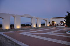 豪华地中海旅馆 现代建筑学传统风格 库存图片