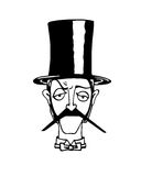 Иллюстрация джентльмена Стоковые Изображения