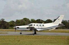 飞机现代涡轮螺旋桨发动机 库存图片