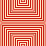 镶边红色白色样式 抽象重复直线几何纹理背景 免版税库存图片