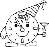потревожьте праздновать часы Стоковое фото RF