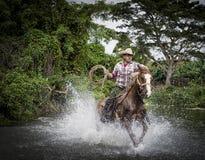 牛仔,特立尼达,古巴 免版税库存照片