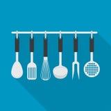 烹调工具的厨具器物 免版税库存图片