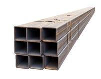 Профиль трубы металла изолированный на белой предпосылке Стоковое Изображение RF