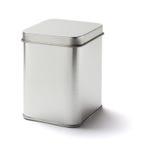 方形的锡罐 免版税库存图片