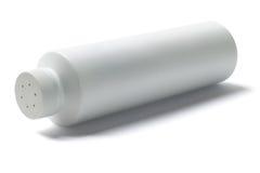 白色扑粉容器 免版税图库摄影