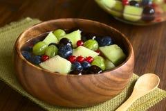 Πεπόνι πεπονιών και σαλάτα φρούτων μούρων Στοκ Εικόνα