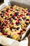Κέικ φρούτων μούρων Στοκ Εικόνα