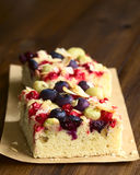 Κέικ φρούτων μούρων Στοκ εικόνες με δικαίωμα ελεύθερης χρήσης