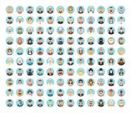 人具体化汇集 人平的圈子象,职业,运作 人画象,动画片人,人生活方式 库存图片