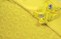 Ткань с сшитым цветком Стоковое Изображение