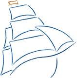 小船图标 库存图片