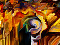 Краска ofпоцелуя внутренняя Стоковая Фотография