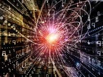 Виртуальная частица волны Стоковые Изображения