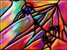 Виртуализация стекла Стоковые Изображения