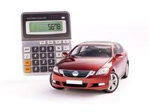 汽车和计算器概念 免版税库存图片