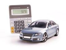 汽车和计算器概念 库存图片
