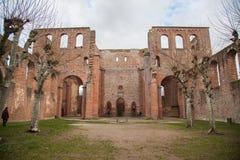 林堡省城堡废墟 库存图片