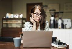 Концепция релаксации кафа кофе периода отдыха бистро вскользь Стоковое Фото