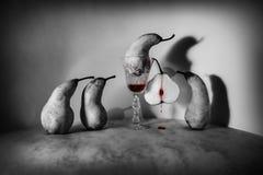 万圣夜血淋淋的梨 免版税库存图片