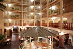 Комнаты и пола роскошной гостиницы Стоковые Фото