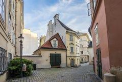 Παλαιά κτήρια στην πρώτη περιοχή στη Βιέννη Στοκ φωτογραφία με δικαίωμα ελεύθερης χρήσης