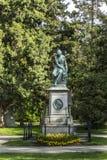 Άποψη στο κεντρικό νεκροταφείο της Βιέννης, η θέση όπου διάσημοι άνθρωποι Στοκ Φωτογραφία