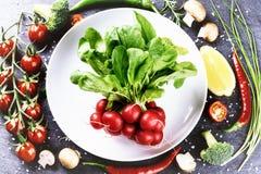 Свежие овощи для здоровый варить еда принципиальной схемы здоровая Стоковая Фотография
