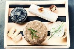 Прекрасный выбор французского сыра Стоковая Фотография