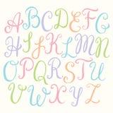 Шрифт нарисованный рукой каллиграфический Стоковые Фото
