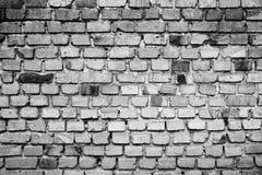 黑白老墙壁 库存照片