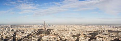 城市巴黎,法国的全景 库存图片