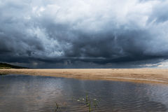 黑暗的波罗的海 免版税图库摄影