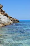美丽的地中海海滩在马略卡 库存照片