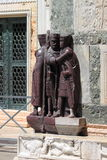 在圣马克大教堂的巴洛克式的雕象在威尼斯 库存照片