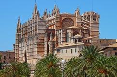 帕尔马哥特式大教堂  免版税库存照片