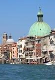 大运河风景看法在威尼斯 免版税库存图片