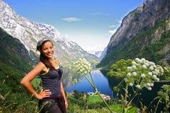 远足者挪威年轻人 库存图片