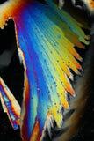 色的水晶冰彩虹 库存图片