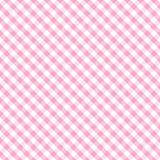 婴孩交叉方格花布粉红色无缝的织法 库存图片