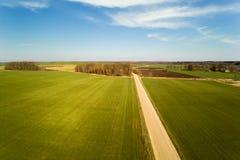 春天在拉脱维亚乡下 免版税库存照片