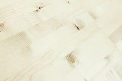 轻的米黄木条地板 木纹理 抽象背景异教徒青绿 库存照片