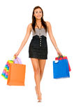 袋子方式购物妇女 库存图片