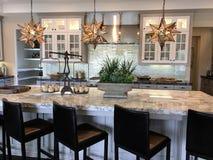 现代美丽的厨房 图库摄影