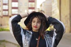 都市的女孩 免版税图库摄影