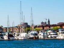 巴尔的摩小游艇船坞视图 库存照片