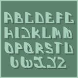 减速火箭的被称呼的字体 背景设计要素空白四的雪花 免版税图库摄影