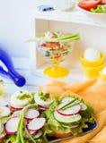 Свежие вкусные сандвичи Стоковая Фотография